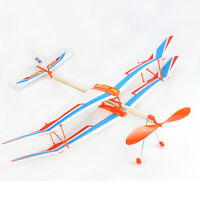 Glider Rubber Band Elastic Powered Flying Plane Airplane Fun Model Kid Toy Stock