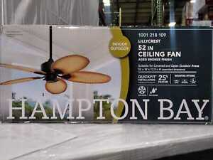 Lillycrest 52 in. Indoor/Outdoor Aged Bronze Ceiling Fan by Hampton Bay