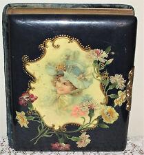Gorgeous Antique Celluloid Photo Album Filled With 35 Antique Photos!