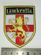 Lambretta Lion - St George Shield Patch - Embroidered - Iron or Sew On