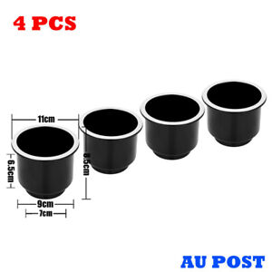 4PCS Recessed Drop In Plastic Cup Drink Holder For Boat Car Marine Universal