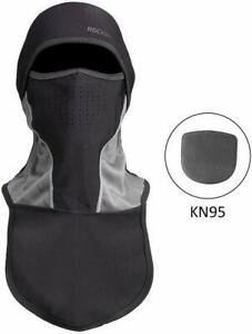 ROCKBROS Cycling Face Masks Winter Windproof Warm Bike Ski Full Face Caps  Black