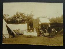 More details for rare cornwall military camp show gipsy caravan soldier & sailor old rp postcard