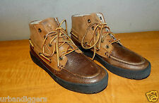 597/ Womens Ralph Lauren Leather  POLO Hiking / Duck Boots ~ Ladies shoe size 6D