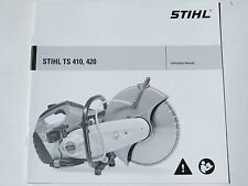 Stihl TS410, TS420 Instruction Manual Book New TS 410, 420 Booklet New Genuine