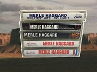 COUNTRY OUTLAW Merle Haggard Cassette Tape Bundle Lot Of 5