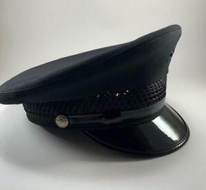 New Midway Uniform Cap Company Chicago Police Hat size X-large 7 3/4-8
