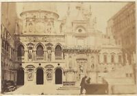 Venezia Italia Palais Dei Doge Vintage Albumina 5,5x8cm Ca 1865