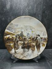 More details for emil barbarini christmas marketplace right scene plate7.5