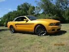 2012 Ford Mustang  2012 Ford Mustang MCA Edition Convertible One of One Rare Color Yellow Blaze
