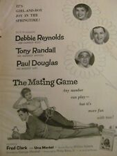 The Mating Game, Debbie Reynolds, Tony Randall, Full Page Vintage Promotional Ad