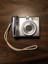Canon PowerShot A550 7.1MP 4x Optical Zoom Lens P&S Camera - Silver - Tested