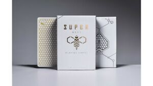 Ellusionist Super Bees Rare Playing Cards White Gold Limited Poker not Bicycle