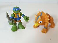 Teenage mutant ninja turtles half shell heroes - Leo and Triceratops imaginext