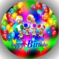 Fondant Tortenaufleger Tortenbild Geburtstag Super Mario T15  ( 3 )