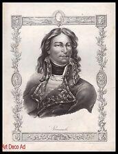 1822 - GRAVURE  Général BEURNONVILLE   Engraving  - 11h
