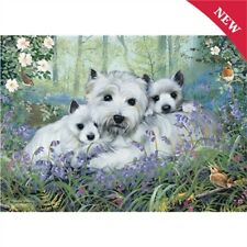 NEW  1000 pc Jigsaw Puzzle 'Westies in the Wood' Cute Dog Lover Gift FREE P&P