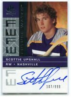 2002-03 SP Authentic 199 Scottie Upshall Rookie Auto /999 FW Future Watch