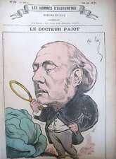 DOCTEUR CHARLES PAJOT GYNECOLOGIE CARICATURE GILL LES HOMMES D'AUJOURD'HUI 1878
