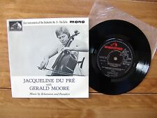 "7"" 45 EP EMI HMV 7EP 7180 ""Solo Instruments No.3 - The Cello"" Jacqueline Du Pré"