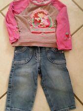 super jean SCHINY+ T-SHIRT charlotte aux fraises T 2 ans  TBE