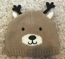 Carters Reindeer Baby Boy Hat 12-24M Winter Holiday Beanie