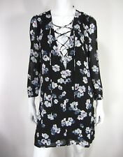 LUCCA FROM LUCCA COUTURE NWT DRESS LONG SLEEVE SIZE S SMALL FLORAL BLACK