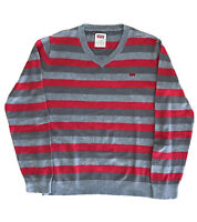Pull Levi's Strauss & Co. LVC Rare Striped Sweat Vintage Sweatshirt Levis Gris L