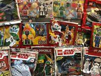 Random figures Star Wars Ninjago etc Two Pound Legos with 1 Bonus MINIFIGURE