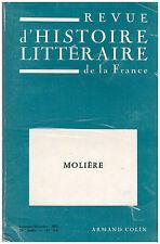REVUE D'HISTOIRE LITTERAIRE DE LA FRANCE - MOLIERE - 1972