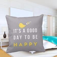 2018 Yellow Bird shape throw soft pillow cover cushion home decoration-gray