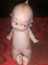 Adorable Rose O'Neill ? Vintage Porcelain Bisque Kewpie Doll Sitting Porcelain