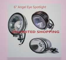 "2 X  6"" Angel Eye Boat Extra Spotlight Lighting Spot Lamp Deck Light 55W H3 Bulb"