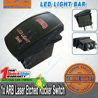 ARB Carling Laser Etched RED LED Light Bar Rocker Switch 20A Custom Parts One