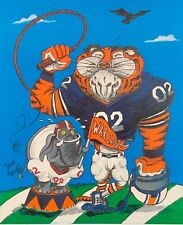 Auburn Tigers Football Signed Limited Edition Print War Eagle Low Number 20/500