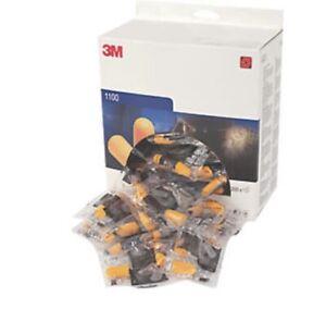 3M 1100 Orange Disposable Noise Reduction Foam Ear Plugs, SNR 37db High Quality