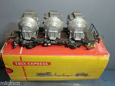 """TRIX """"EXPRESS"""" MODEL No.XXX   FLAT WAGON  WITH 3 CONTAINERS      VN  MIB"""