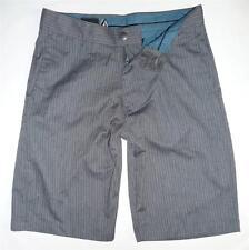 Volcom Stone Freakin Corpo Class Gray Striped Chino Solid Mens Shorts New NWT 28