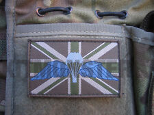 Union Flag VCRO Patch with Para Parachute Wings Qual badge for Multicam MTP