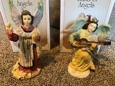 Lot of 2 Vintage 1993 A Band Of Angels Collectible Figurines Iob