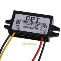 DC to DC 12V To 5V 3A 15W Auto Car Power Converter Regulator Voltage Adapter