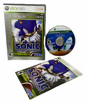 Sonic the Hedgehog PLATINUM FAMILY HITS (Microsoft Xbox 360, 2006) Manual Tested