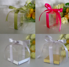 20/50/100/200 PVC Clear 5x5x5 cm Favor Boxes Wedding Bomboniere Christening Gift