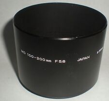 CAMERA PHOTOGRAPHY LENS HOOD ONLY FOR 55MM MD 100-200 ZOOM F1:5.6 MINOLTA