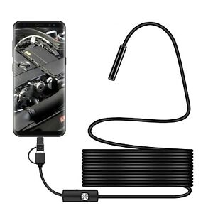 USB Endoscope Borescope Inspection Tube HD Camera For Android Mobile Phone 5.5mm