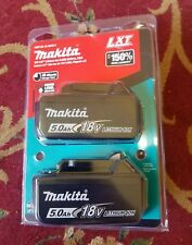 MAKITA 18V LXT 5.0Ah LITHIUM-ION BATTERY GENUINE AUTHENTIC 2-PACK BL1850B-2 NEW