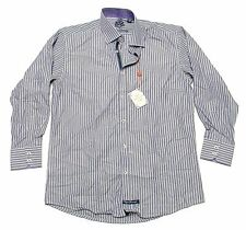 NWT - ENGLISH LAUNDRY Men's 'STRIPED' Purple SPORT DRESS SHIRT -  16 / 32-33