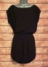H&M Size 6 Summer Dress BLACK Mini Elasticated Batwing VGC Women's Holiday