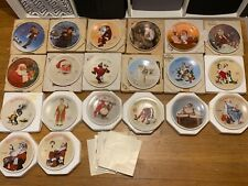 complete set 1981 - 2000 Norman Rockwell Knowles Collector Christmas Plates 20 I