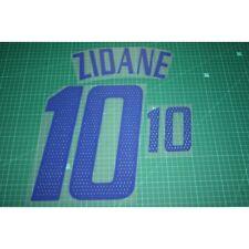 Flocage de ZIDANE pour maillot équipe de France blanc 2002 2004 patch shirt *